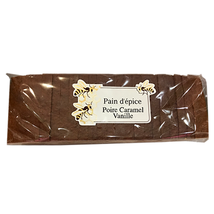 PAIN D'EPICES Tranché Poire Caramel Vanille
