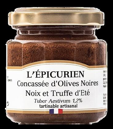 Concassée d'Olives Noires Noix et Truffes d'Eté 1,2% - L'Epicurien
