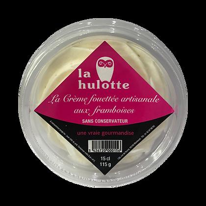 Crème fouettée artisanale aux framboises La Hulotte