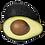 Thumbnail: Avocat variété Hass Calibre Moyen X3 (110)