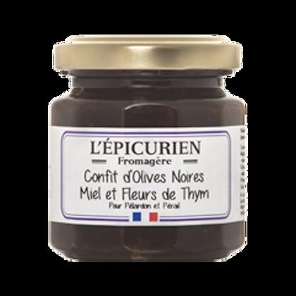 Confit d'Olives Noires, Miel et Fleurs de Thym - l'Epicurien