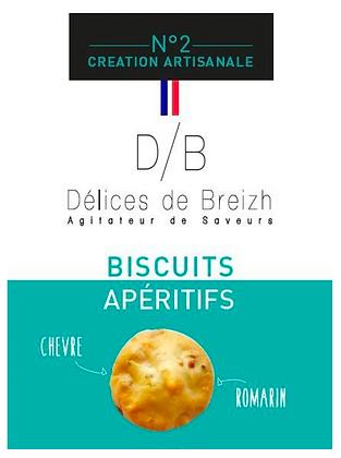 Biscuits Apéritif Chèvre/Romarin - Délices de Breizh