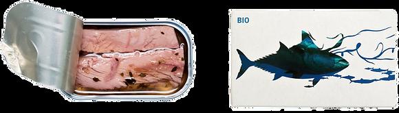 Filets de THON en Saumure Légère et Thym-Citron BIO - Maria Organic