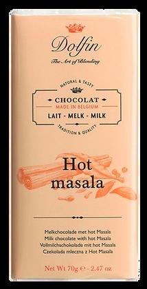 Tablette de Chocolat au lait Hot Massala - Dolfin