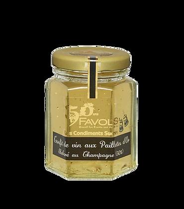 Confit de CHAMPAGNE aux Paillettes d'Or - Favols
