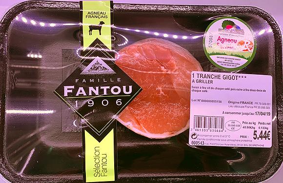 Pavés de Gugot d'Agneau *** X2 Fermier Label Rouge - Famille Fantou