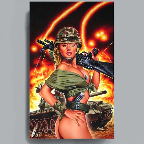"Poster ""Fille au tank"""