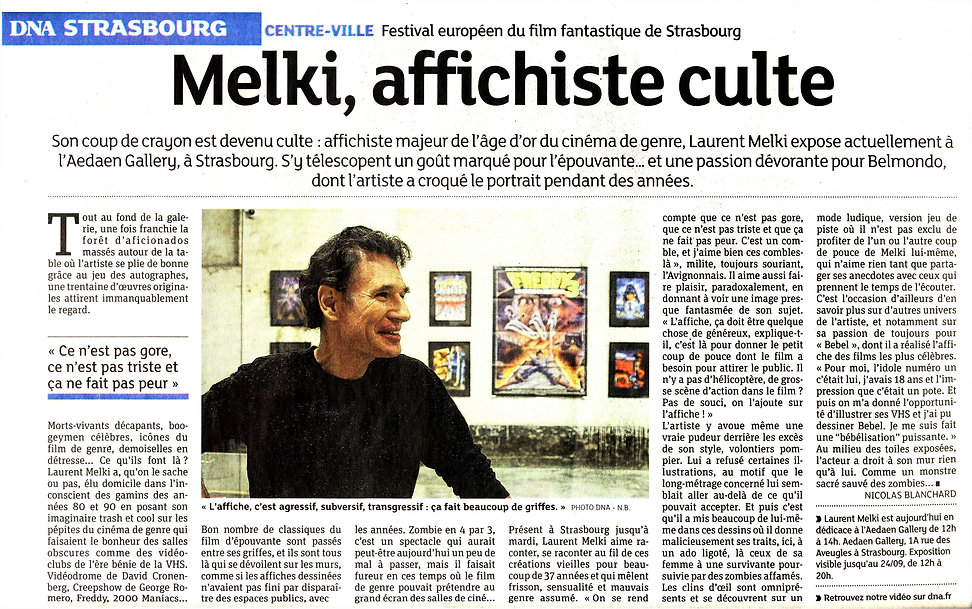 Interview de Melki Laurent expo Strasbourg pour DNA affichiste culte.
