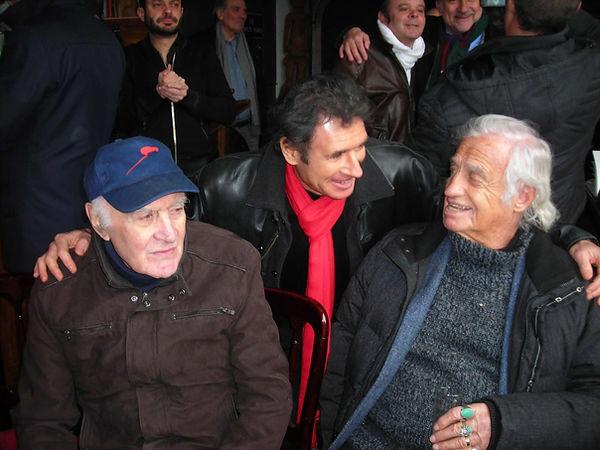 Laurent Melki avec Jean Paul Belmondo et Rémy Julienne. Laurent Melki affiches de Belmondo. Le professionnel, le solitaire, le marginal, l'as des as, peur sur la ville