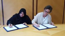 PeaceStartup signs a collaboration agreement with the Dubai Business Women Council / La Fundación Pe