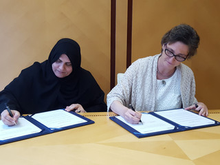 PeaceStartup signs a collaboration agreement with the Dubai Business Women Council / La Fundación Pe