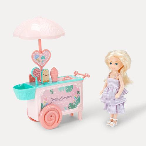 15 Piece Mini Ice Cream Doll Set