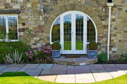 Linton House Back Door Stonework