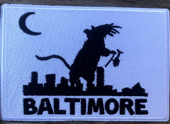 Ratzilla embroidered patch