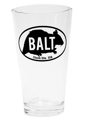 Baltimore rat pint glass