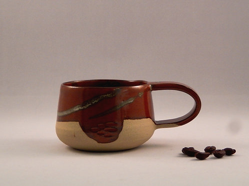 Tasse à café rouge