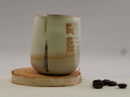 Tasse à café blanc / rouge