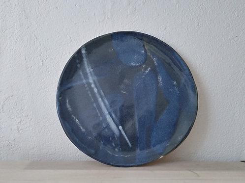 Assiettes plate bleu