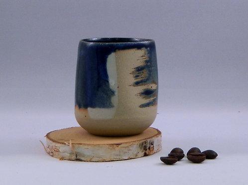 Tasse à café bleu / blanc