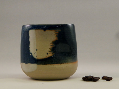 Tasse à thé bleu / blanc