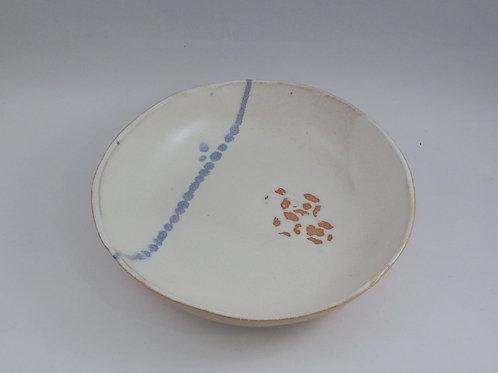 Ecuelle blanche trait bleu