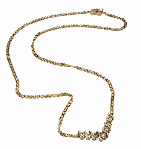 Estate 14K Gold and Diamond Necklace