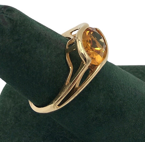 Estate 14K Gold Topaz Ring