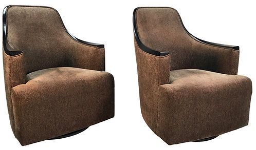 Pair Donghia Georgette Lounge Chairs