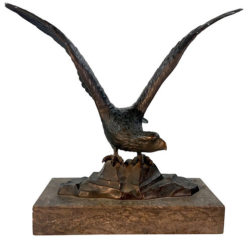 Peter Marius Jensen (Danish 1883-1925) Bronze Falcon