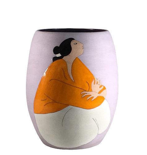 "Rudolph Carl Gorman, ""LEA"", Ceramic Vase"
