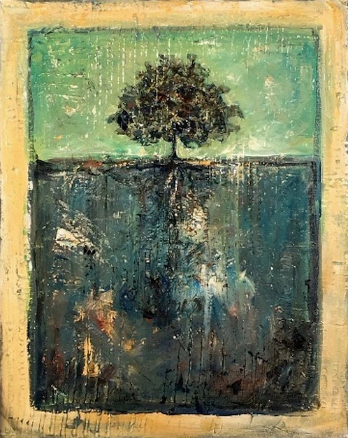 Kathy Anderson, The Tree, mixed media on canvas