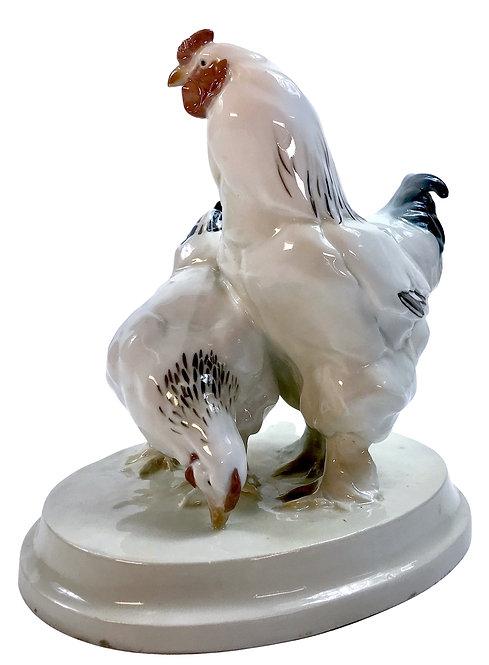 Meissen Figure Rooster and Hen