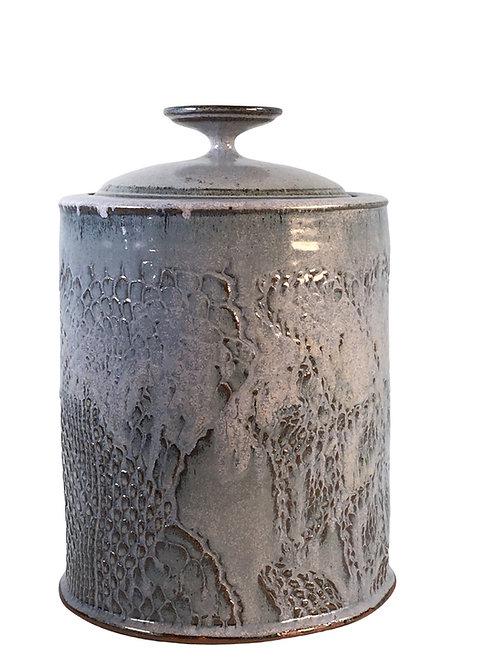David Batz Studio Art Pottery Lidded Vessel, Vintage