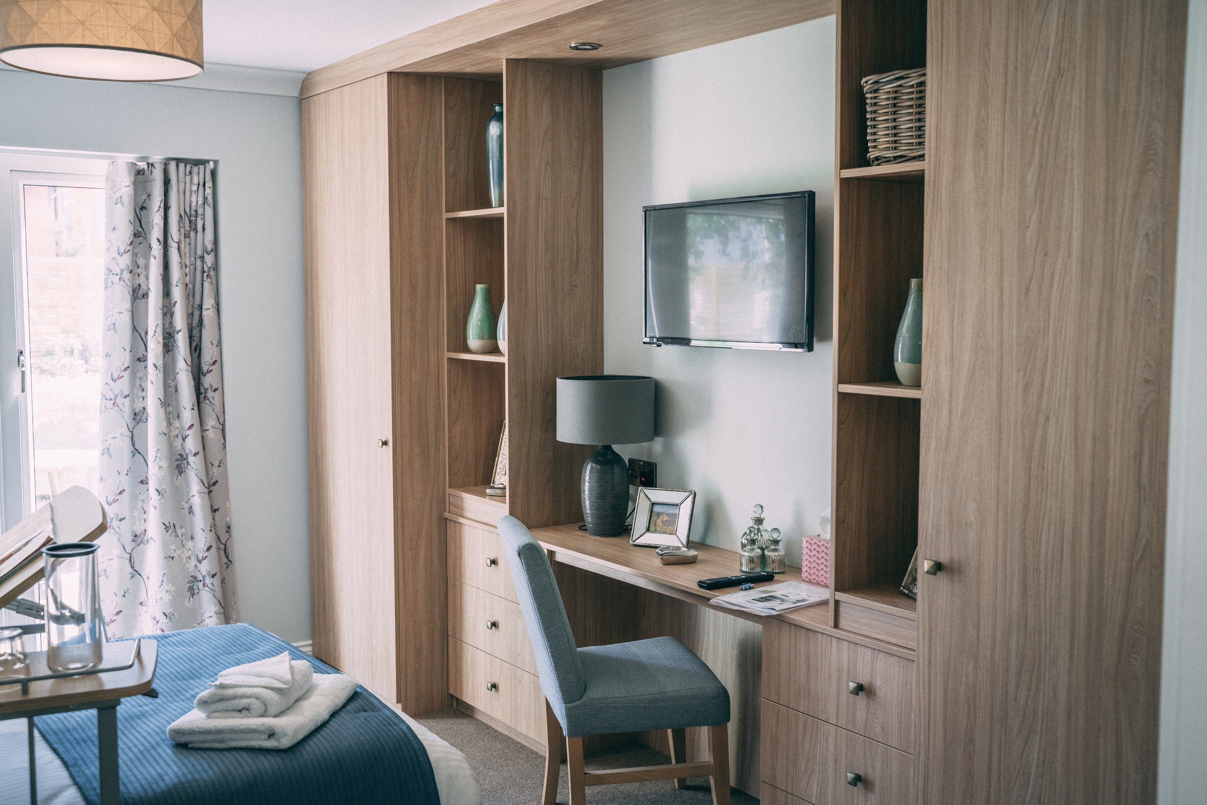 Bedroom Detail Built in Storage
