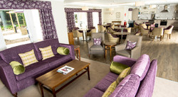 Care home open plan lounge dining