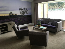 Care Home Sitting Area with Mural