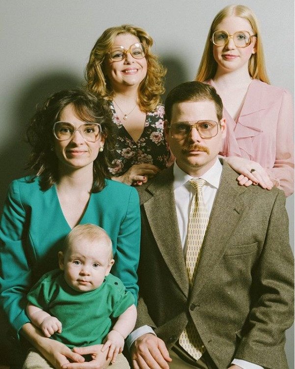 The family of Mike from the mental health podcast, Pop Psych 101