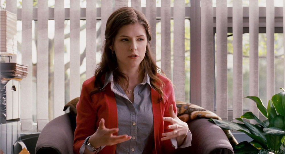 Katherine McCay, played by Anna Kandrick in the movie 50/50, looks awkward because of her face and hands