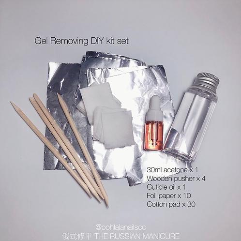DIY gel removal kit set