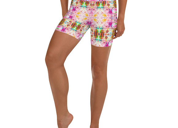 Elephant Print Yoga Shorts