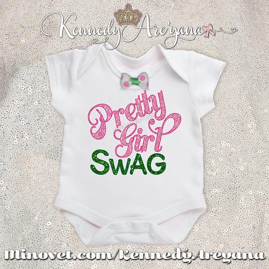 Pretty Girl Swag T-Shirt (Pink/Green)