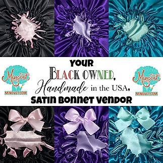 Your Black Owned Handmade Satin Bonnet V