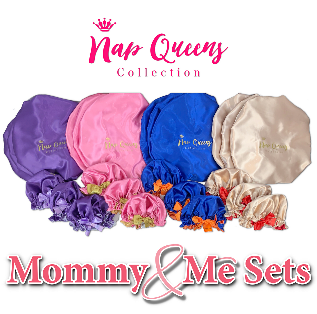 Custom Mommy and Me Bonnet Sets made by Minovet.com