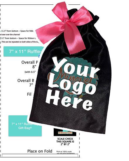 DIY Patterns - Ruffle-Top Gift Bag