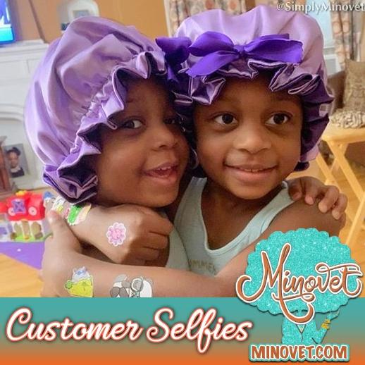 Customer Selfies - Twin Royalty Bonnets.