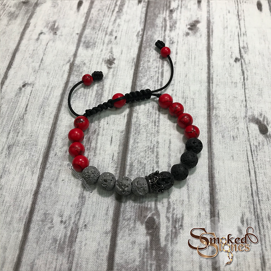 Black, Gray, and Red Queen Bracelet