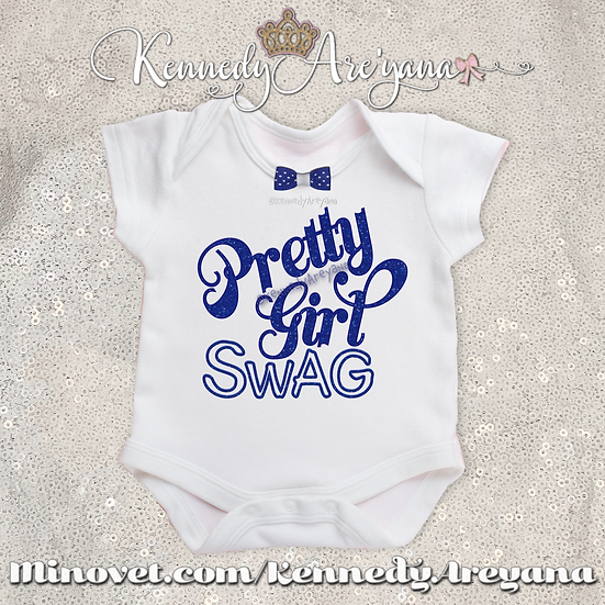 Pretty Girl Swag T-Shirt (Blue/White)