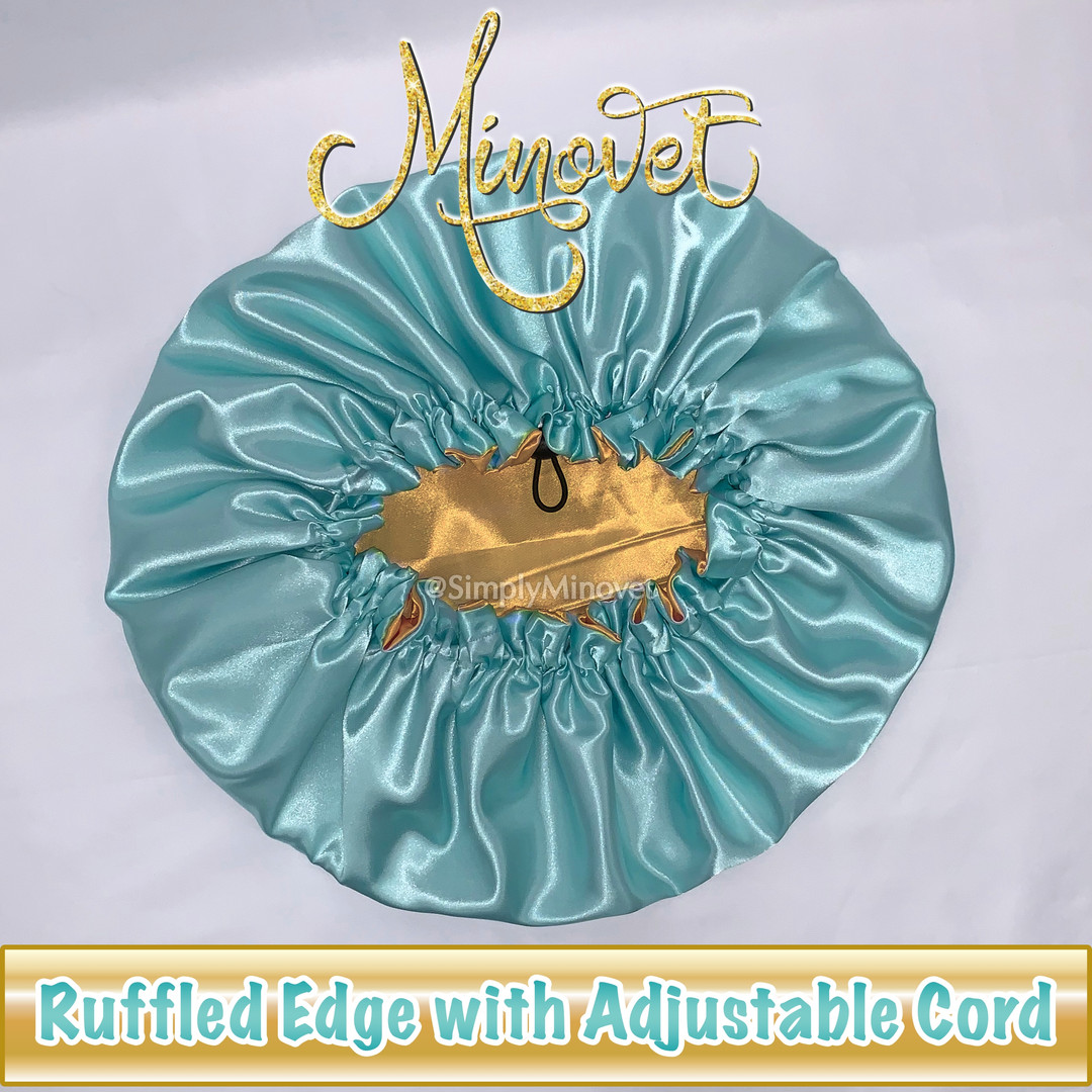 Bonnet - Ruffled Edge - Adjustable Cord