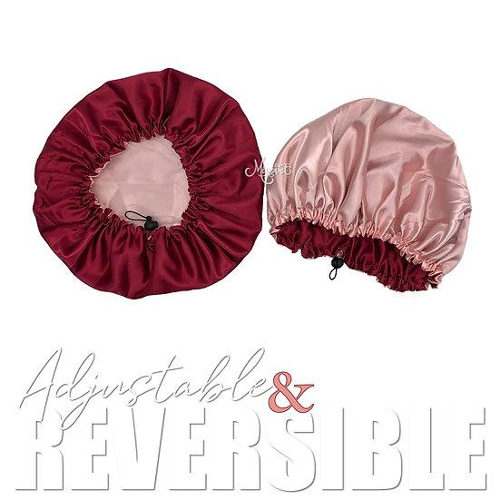 Pink and Deep Red Bonnet (Medium)