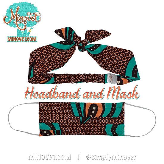Headband & Mask Set - Serenity